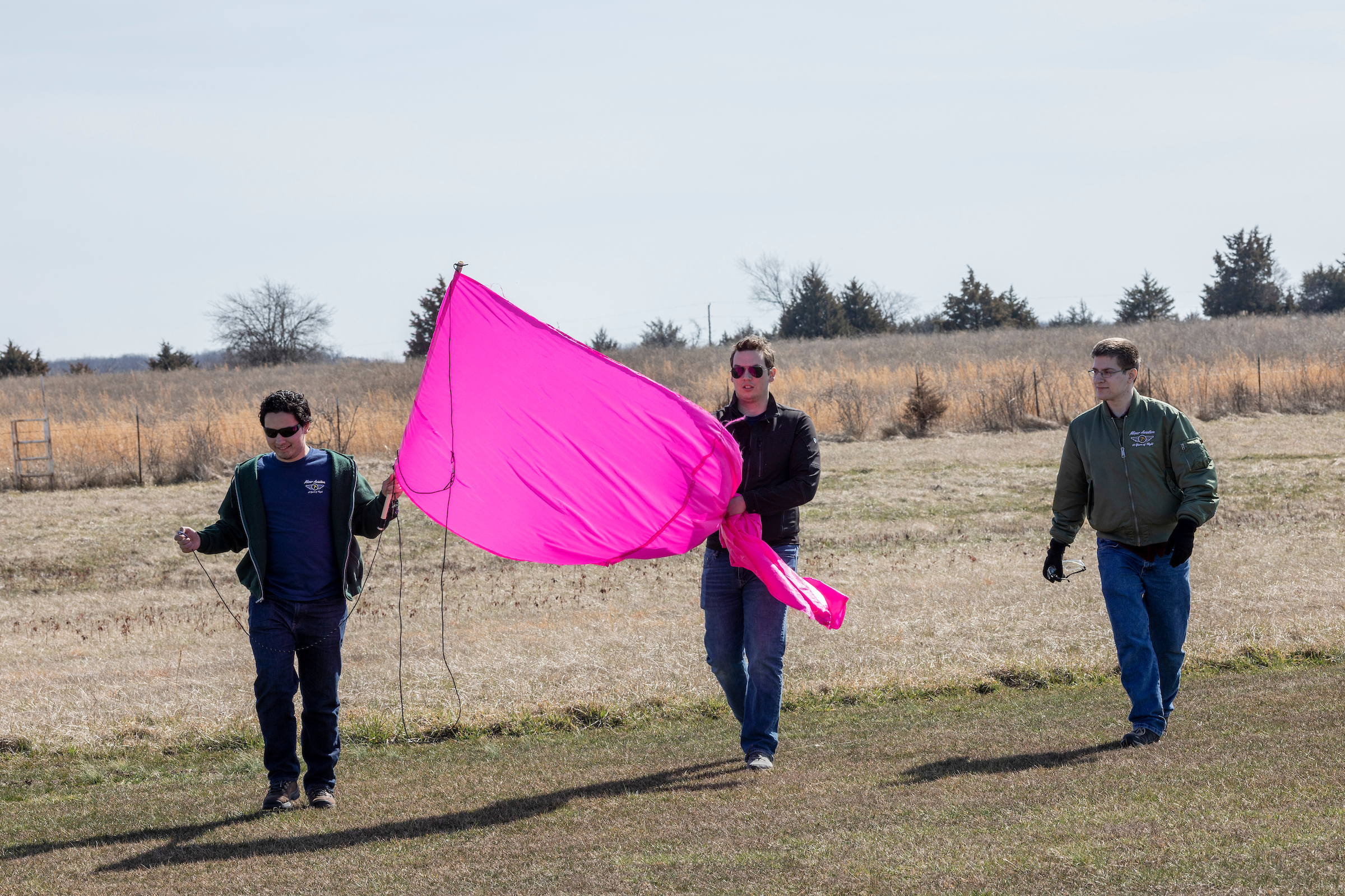 Photo Tom Wagner/Missouri S&T, Miner Aviation design team flight test at Rolla National Airport RC strip, in Vichy, MO. Flight testing two different length banners, both successful deployments. ©Missouri S&T 2019, All moral rights Asserted. RIGHTS Protected, this image is copyrighted and no usage is allowed without written permission from Missouri S&T Marketing Communications Dept.