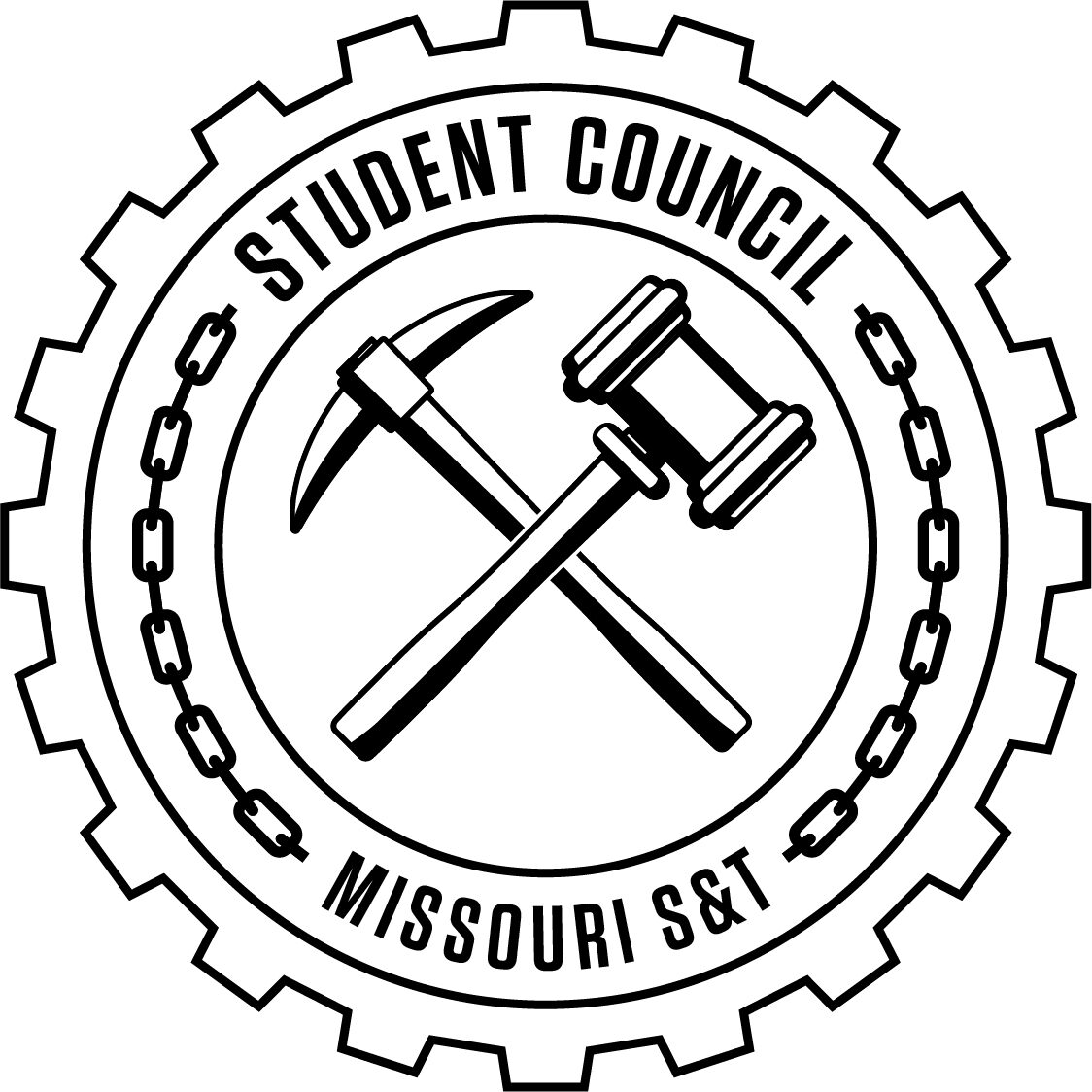 STUCO Logo, 6 inches in length, black & white